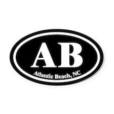 Atlantic Beach AB Euro Oval Oval Car Magnet