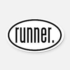 runner. Oval Car Magnet
