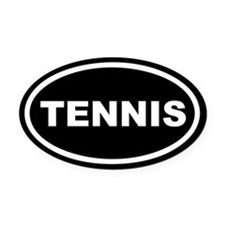 Tennis Euro Oval Car Magnet