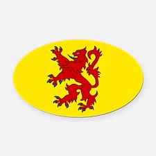 Scottish Oval Car Magnet