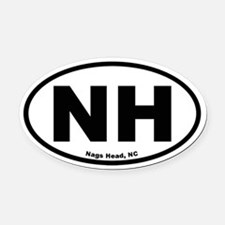 Nags Head Oval Oval Car Magnet