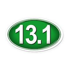 13.1 GREEN Marathon Oval Car Magnet