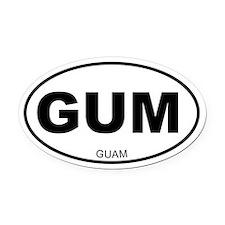 Guam Oval Car Magnet