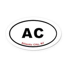 Atlantic City - Oval Euro St Oval Car Magnet