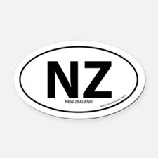 New Zealand country bumper Oval Car Magnet -White