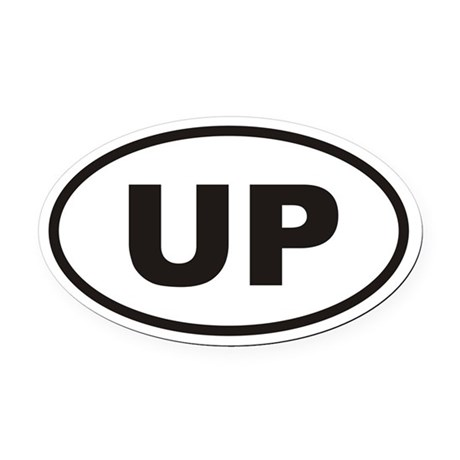 UP Upper Penninsula Euro Oval Car Magnet