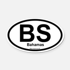 BS Bahamas Oval Car Magnet