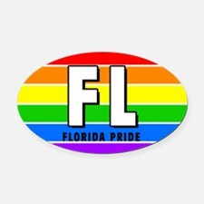 Florida Pride Oval Car Magnet