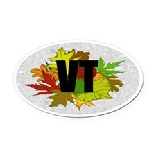 Vermont VT Fall Foliage Leaves Oval Car Magnet