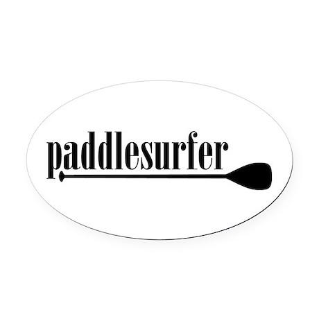 Paddlesurfer Oval Car Magnet