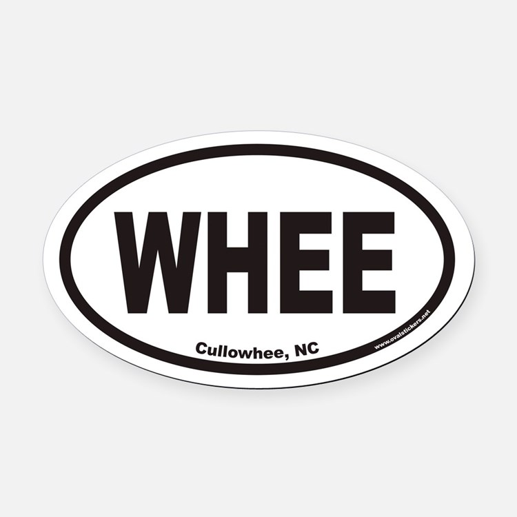 Cullowhee WHEE Euro Oval Car Magnet
