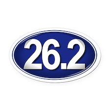 26.2 BLUE Marathon Oval Car Magnet