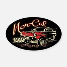Nor-Cal Chevy Gasser Oval Car Magnet