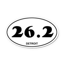 Detroit Marathon Oval Car Magnet