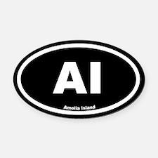AI Amelia Island Black Euro Oval Car Magnet