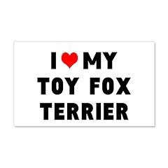LUV MY TOT FOX TERRIER 22x14 Wall Peel