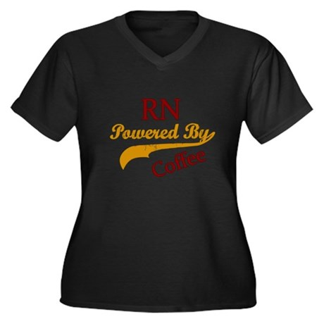 RN Powered By Coffee Plus Size T-Shirt