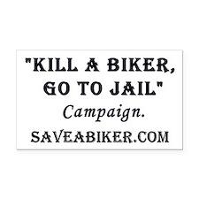Save a Biker Rectangle Car Magnet