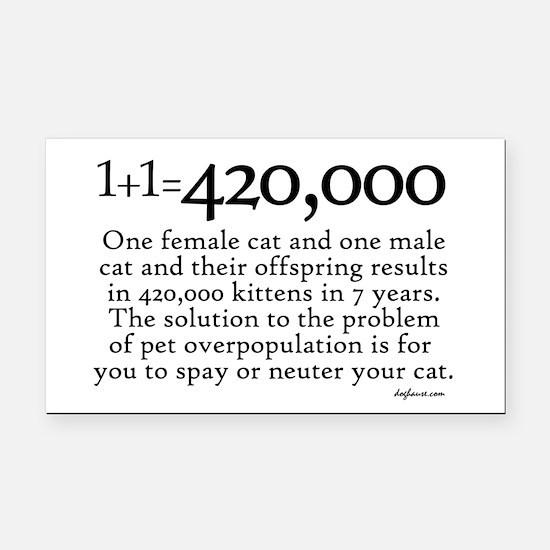 420,000 Cat Overpopulation Rectangle Car Magnet