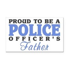Officer's Father Rectangle Car Magnet