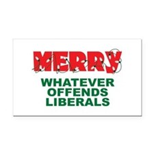 Merry Whatever Offends Liberals Rectangle Car Magn