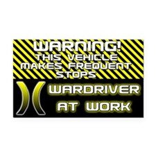 Wardriver Rectangle Car Magnet