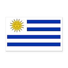 Uruguay Flag Rectangle Car Magnet