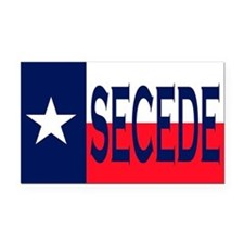 Texas Flag Secede Rectangle Car Magnet