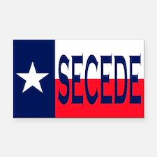 Texas Flag Secede Rectangle Car Magnet