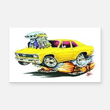 1968-70 Nova Yellow Car Rectangle Car Magnet