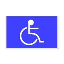 """Disabled"" Rectangle Car Magnet"
