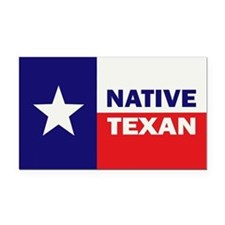 Native Texan Rectangle Car Magnet
