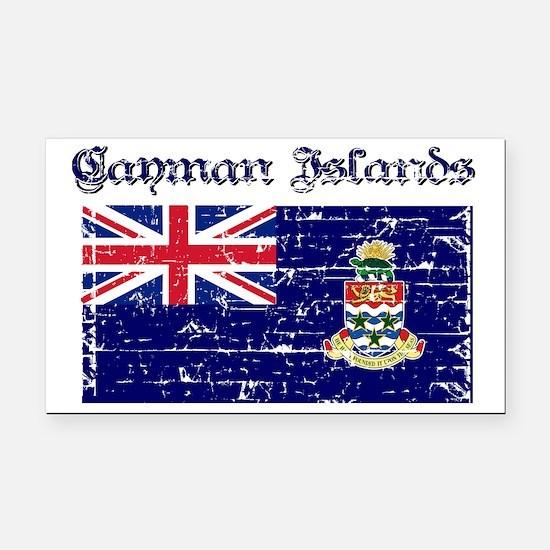 Cayman Island Flags Rectangle Car Magnet