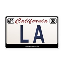 California License Plate Rectangle Car Magnet - LA