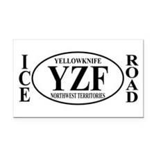 Yellowknife Ice Road Rectangle Car Magnet