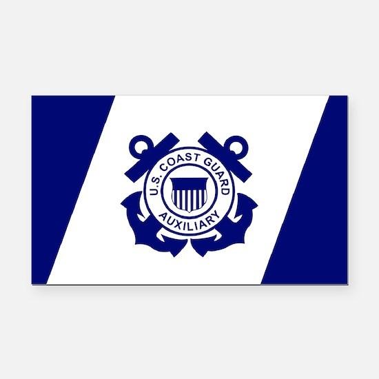 USCG Auxiliary Flag<BR> Horizontal Rectangle Car M