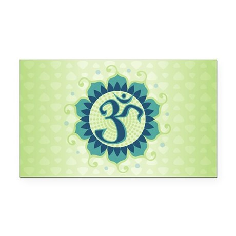 Lotus Aum Blue/Green - Rectangle Car Magnet
