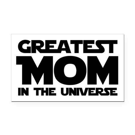 Greatest Mom Rectangle Car Magnet