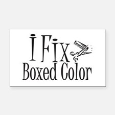 I Fix Boxed Color Rectangle Car Magnet