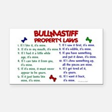 Bullmastiff Property Laws 2 Rectangle Car Magnet