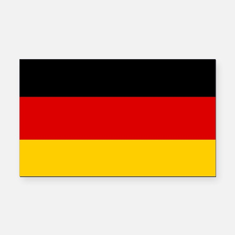 German Flag Rectangle Car Magnet