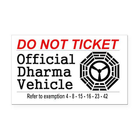Dharma Vehicle Rectangle Car Magnet