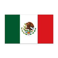 """Mexico Flag"" Rectangle Car Magnet"