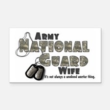 National Guard Wife - Digital Rectangle Car Magnet