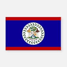 Belize Flag Rectangle Car Magnet