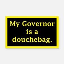 My Governor is a Douchebag. Rectangle Car Magnet