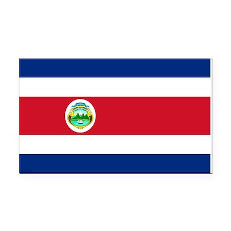 Costa Rica Rectangle Car Magnet