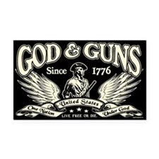 God & Guns Rectangle Car Magnet