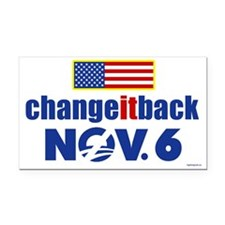 Change it back! Nov 6 Rectangle Car Magnet