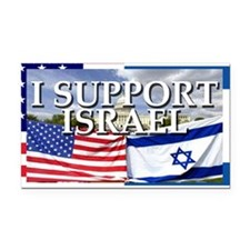 I Support Israel Rectangle Car Magnet